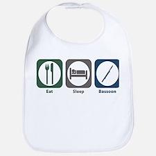 Eat Sleep Bassoon Bib