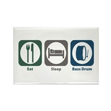 Eat Sleep Bass Drum Rectangle Magnet