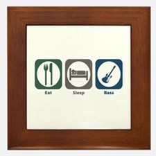 Eat Sleep Bass Framed Tile