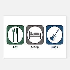 Eat Sleep Bass Postcards (Package of 8)