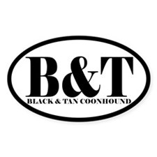 B&T Abbreviated Black and Tan Coonhound Sticke