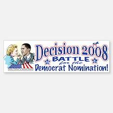 Hillary vs Obama 2008 Bumper Bumper Bumper Sticker