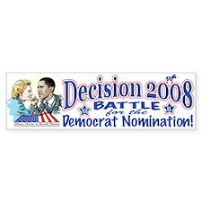 Hillary vs Obama 2008 Bumper Bumper Sticker