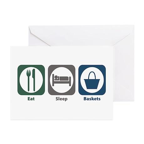 Eat Sleep Baskets Greeting Cards (Pk of 10)