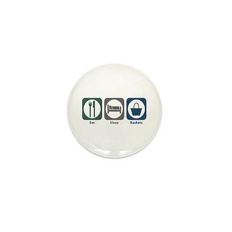 Eat Sleep Baskets Mini Button (10 pack)