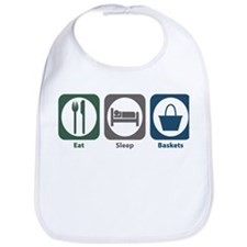 Eat Sleep Baskets Bib