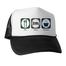 Eat Sleep Baskets Trucker Hat