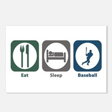Eat Sleep Baseball Postcards (Package of 8)