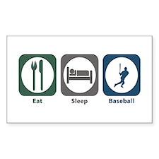 Eat Sleep Baseball Rectangle Decal