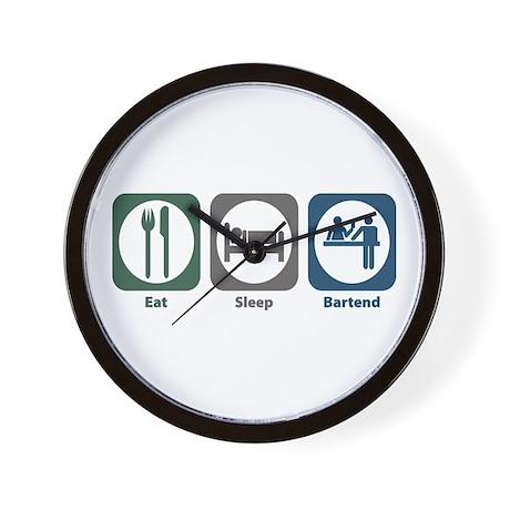 Eat Sleep Bartend Wall Clock