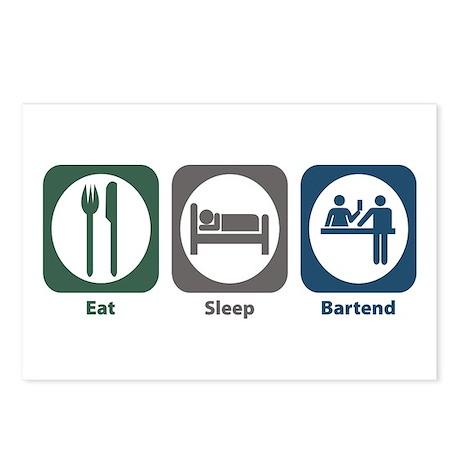 Eat Sleep Bartend Postcards (Package of 8)