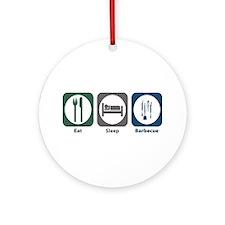 Eat Sleep Barbecue Ornament (Round)