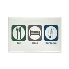 Eat Sleep Barbecue Rectangle Magnet