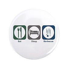 """Eat Sleep Barbecue 3.5"""" Button"""