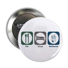 """Eat Sleep Barbecue 2.25"""" Button (100 pack)"""