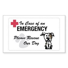Rescue Pit Bull Rectangle Decal
