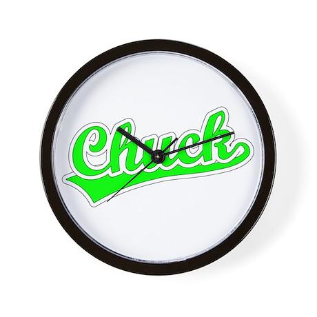 Retro Chuck (Green) Wall Clock