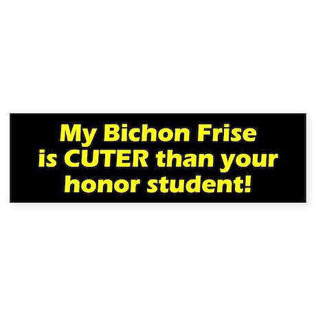 Cuter Bichon Frise Bumper Sticker