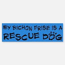 Rescue Dog Bichon Frise Bumper Bumper Bumper Sticker