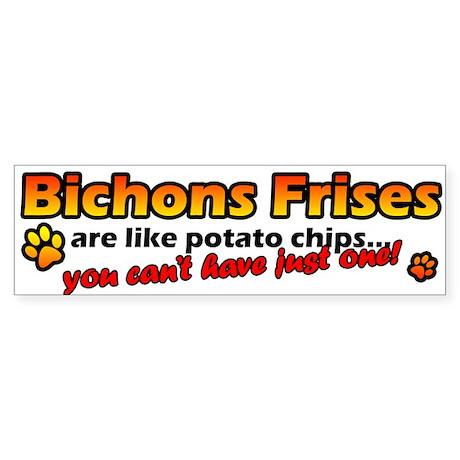 Potato Chips Bichon Frise Bumper Sticker