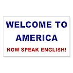 Speak English Rectangle Sticker 50 pk)