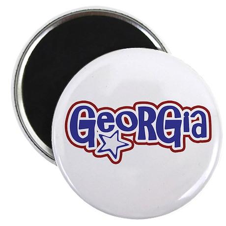 Georgia - Pink Retro Magnet