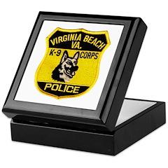 VA Beach PD Canine Keepsake Box