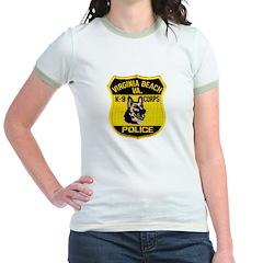 VA Beach PD Canine Jr. Ringer T-Shirt