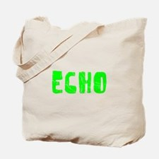 Echo Faded (Green) Tote Bag