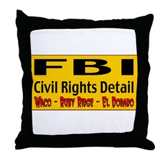 FBI Civil Rights Detail Throw Pillow