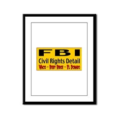 FBI Civil Rights Detail Framed Panel Print