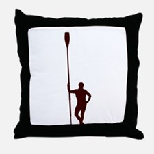 READY TO ROW RED Throw Pillow