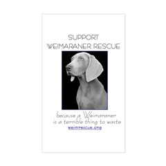Support Weim Rescue Rectangle Decal