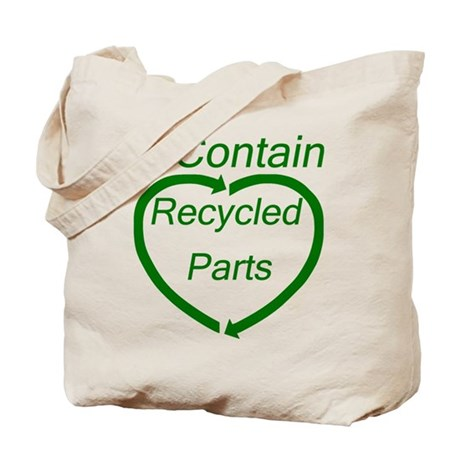 Recyled Parts Tote Bag