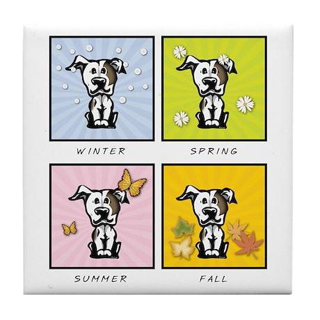 4 Seasons Pit Bull Tile Coaster