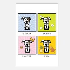 4 Seasons Pit Bull Postcards (Package of 8)