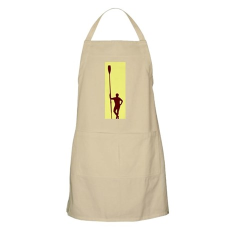 READY TO ROW YELLOW RED BBQ Apron