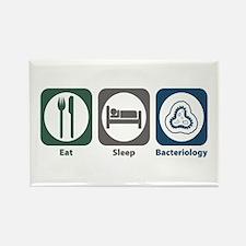 Eat Sleep Bacteriology Rectangle Magnet