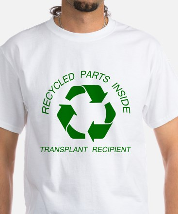 Recycled Parts Inside White T-Shirt