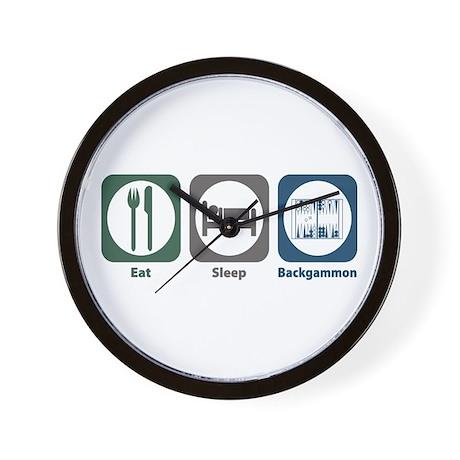 Eat Sleep Backgammon Wall Clock