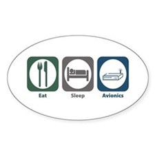 Eat Sleep Avionics Oval Decal