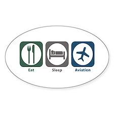 Eat Sleep Aviation Oval Decal