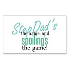 StepDad's the Name! Rectangle Decal