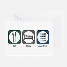 Eat Sleep Auditing Greeting Cards (Pk of 20)