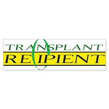 Transplant Recipient Bumper Bumper Sticker