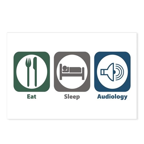 Eat Sleep Audiology Postcards (Package of 8)