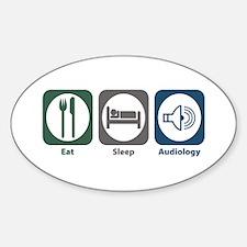 Eat Sleep Audiology Oval Decal