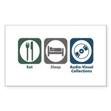 Eat Sleep Audio-Visual Collections Decal
