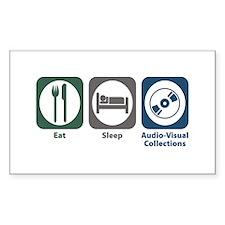 Eat Sleep Audio-Visual Collections Decal