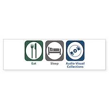 Eat Sleep Audio-Visual Collections Car Sticker